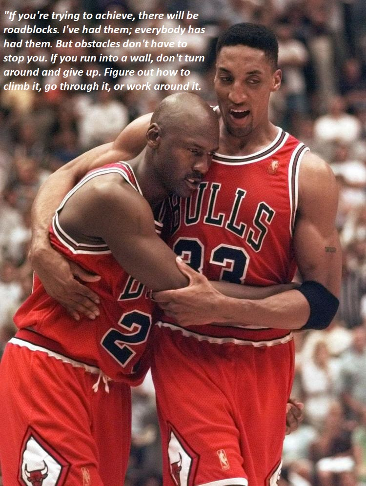 [Image] Never give up. On June 11 1997, Michael Jordan battled through fever, flu symptoms and exhaustion to score 38 points in a pivotal NBA Finals game. Twenty years later it remains as one of the most amazing moments in sports history.