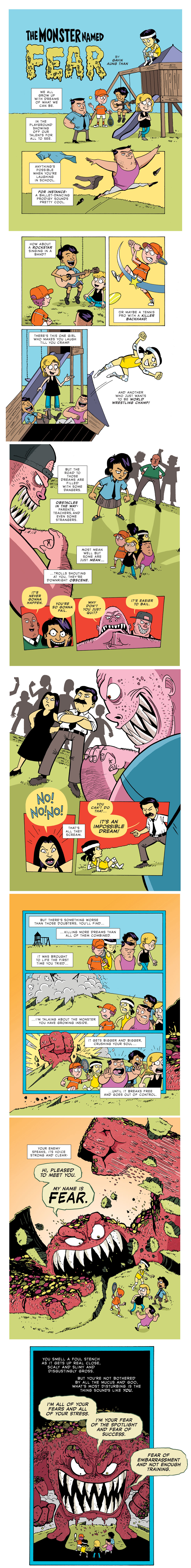 [Image] The Monster Named Fear (by ZenPencils)