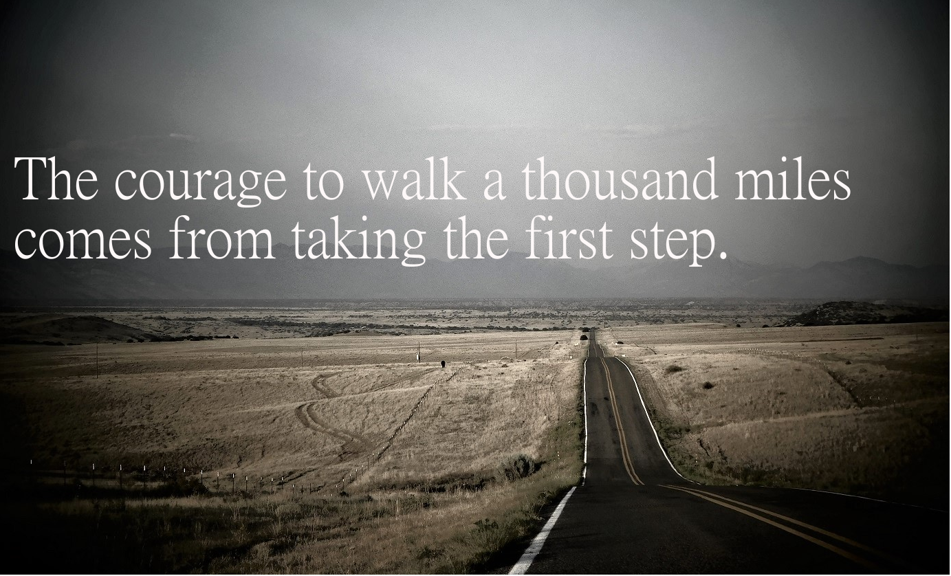 [Image] One step at a time