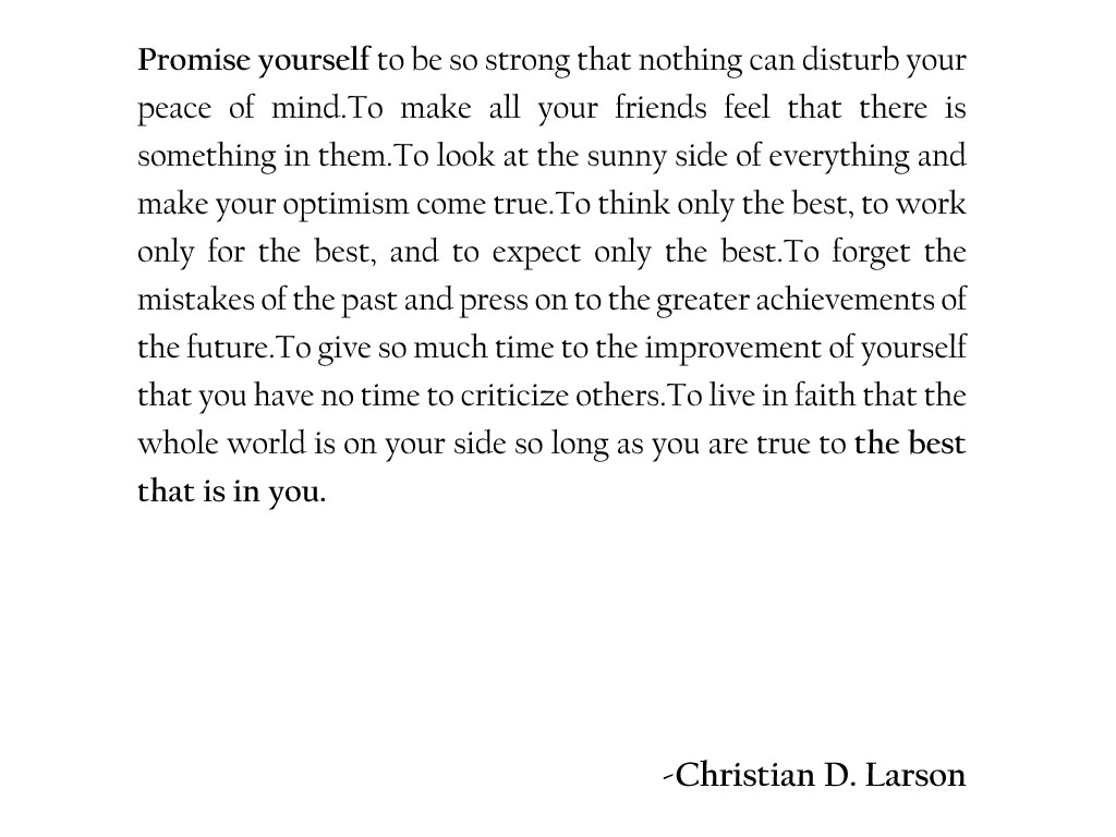[Image] Promise Yourself