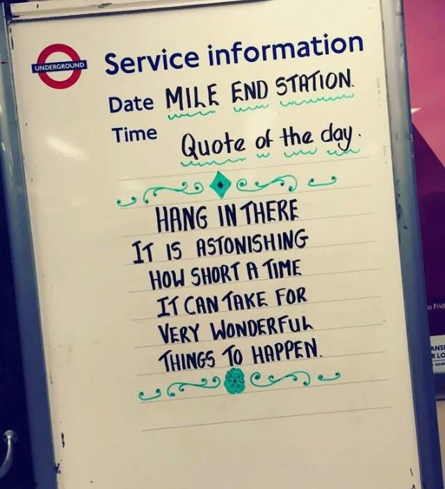 [Image] Advice from my local Underground station!