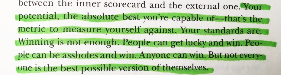 "[Image] Motivation from the book ""Ego Is the Enemy"""