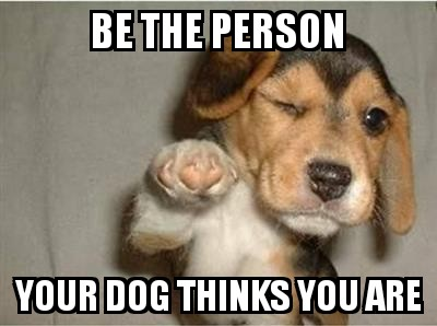[Image] Be the person your dog thinks you are