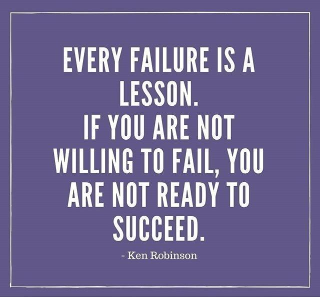 [image] Every failure is a lesson