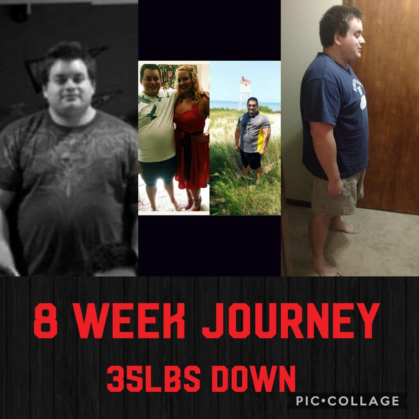 [Image] Weight Loss Journey so Far: 8 weeks.
