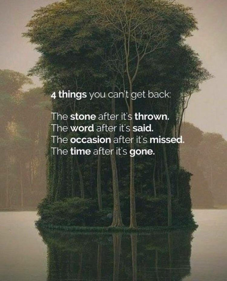 4 things you can't get back