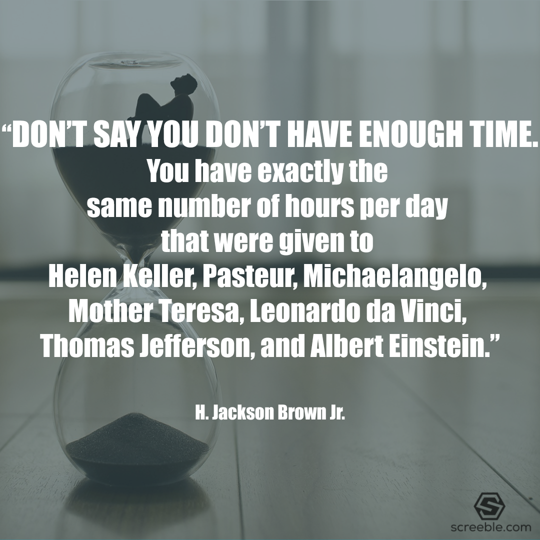 [IMAGE] Don't say you dont have enough time