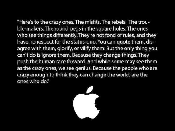 [Image] The People Who Are Crazy Enough to Think They Can Change The World