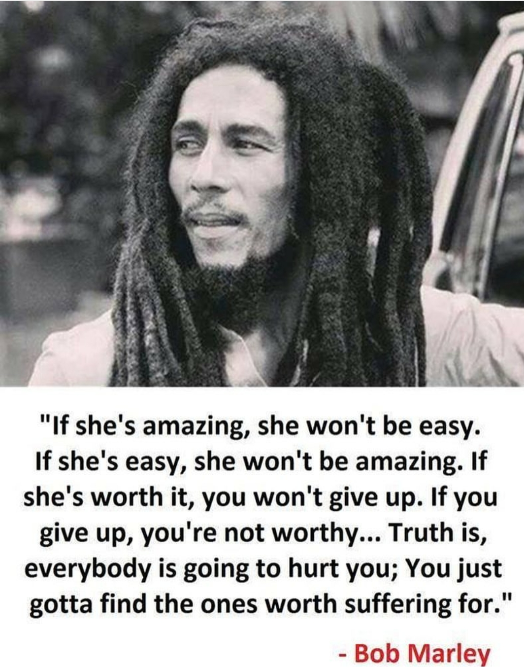 [Image] Wise words from Bob Marley