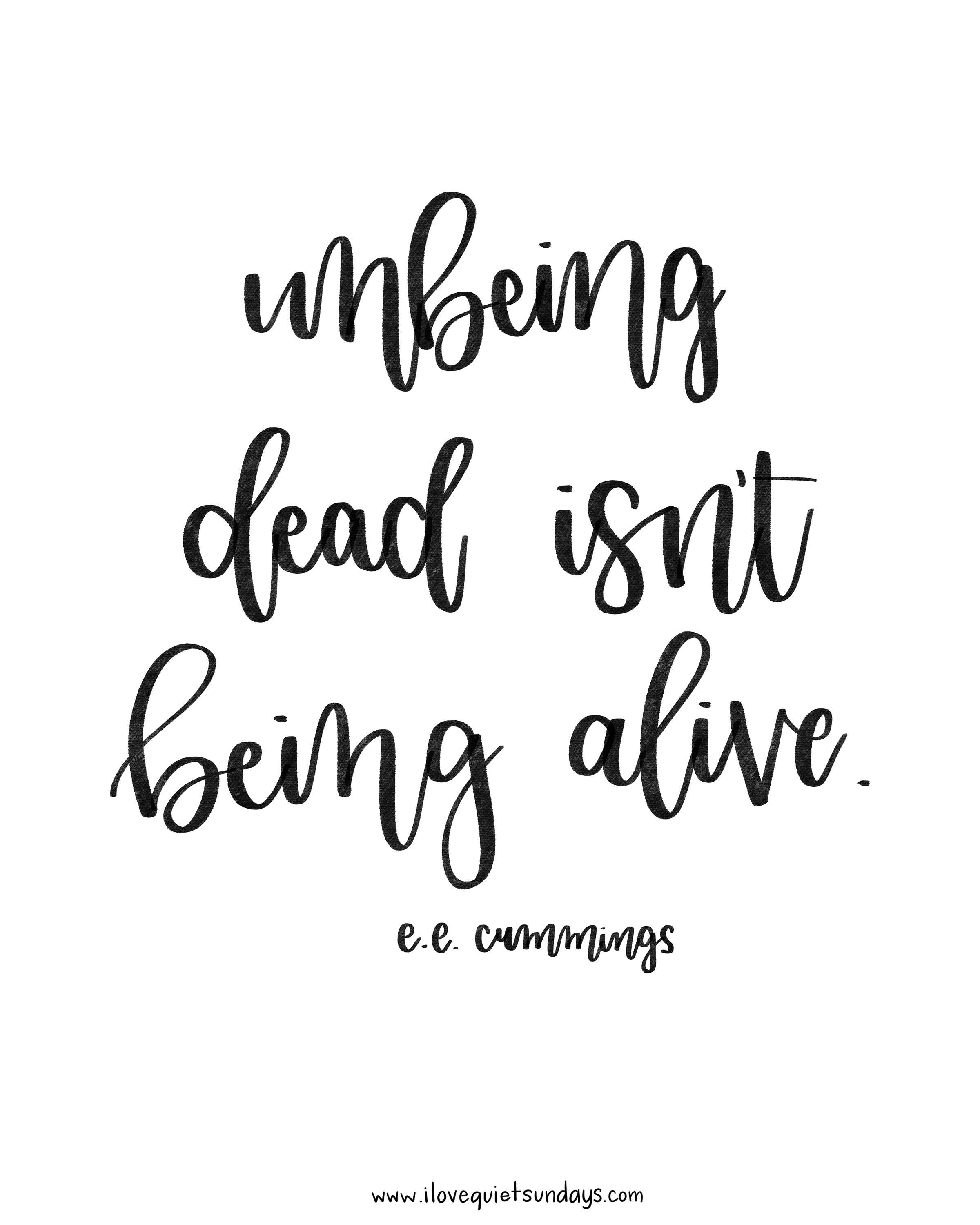 Unbeing dead isn't being alive