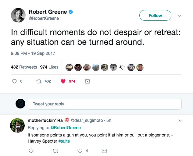 [Image] Some words of wisdom from the great robert greene