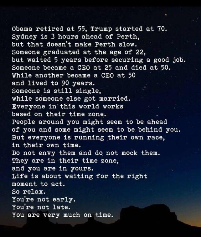 [Image] You are very much on time.