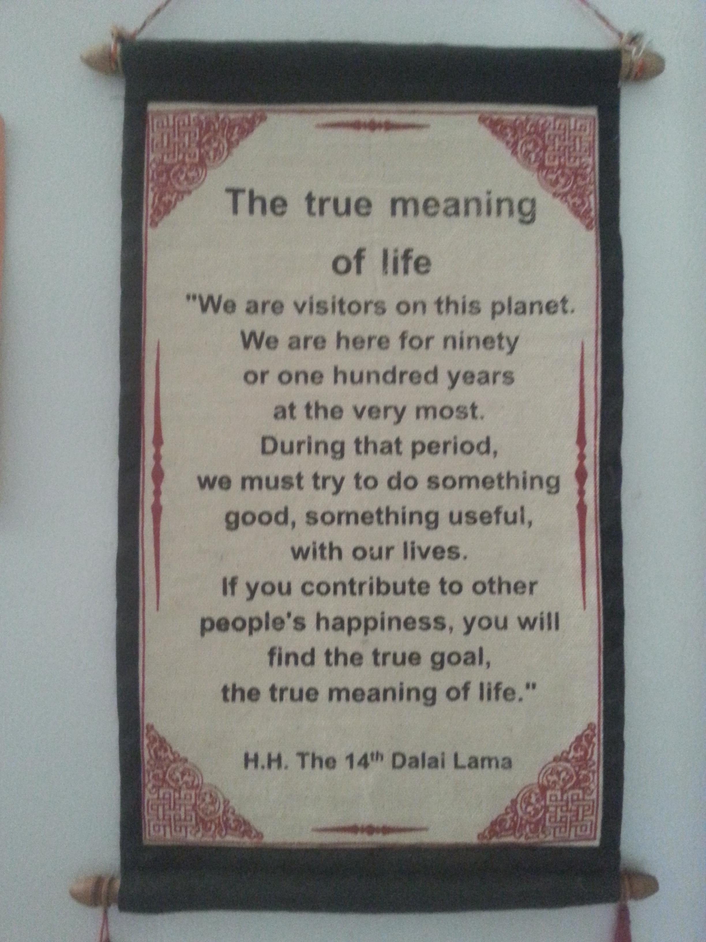 The true meaning of life- hh the 14th dalai lama