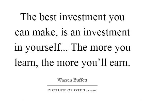 [Image] The best investment you can make is in yourself
