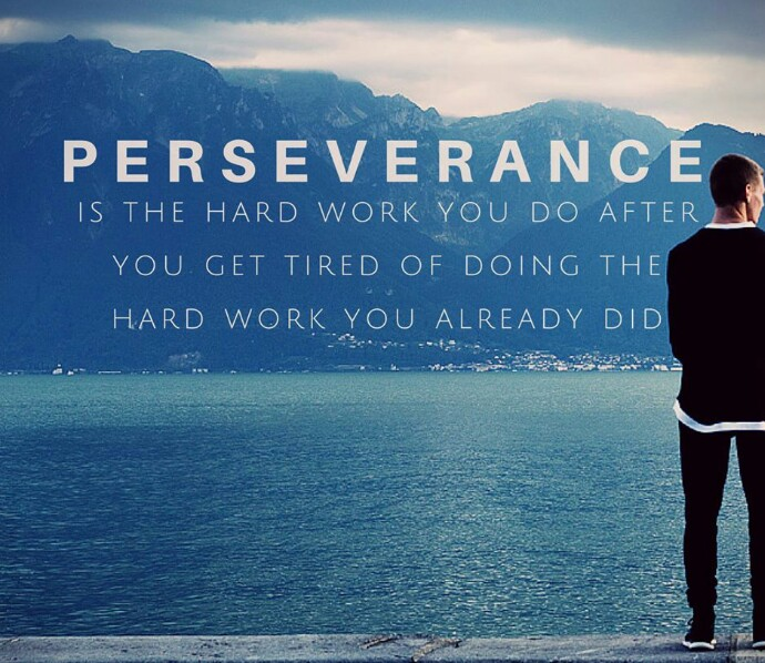 [Image] Perseverance is the hard work you do after you get tired of doing the hard work you did