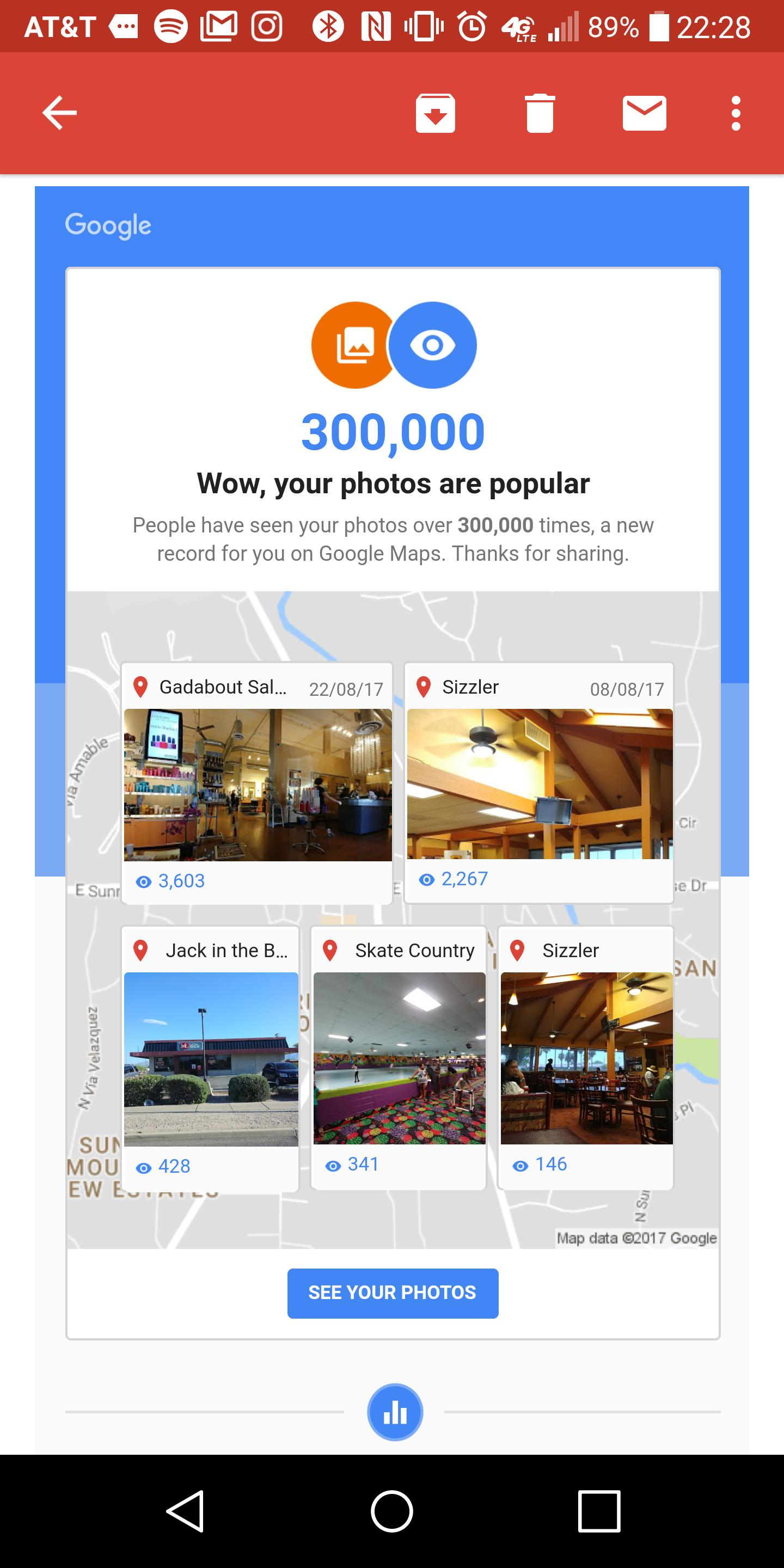 [Image] Whenever I feel insignificant, I look at how many people I've helped with pictures for Google maps