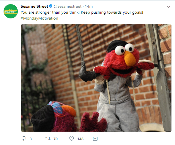 [Image] Elmo believes in you!