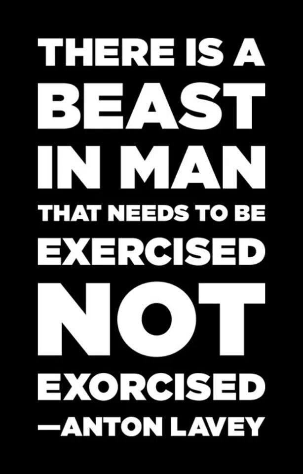 [Image] There is a beast in man…