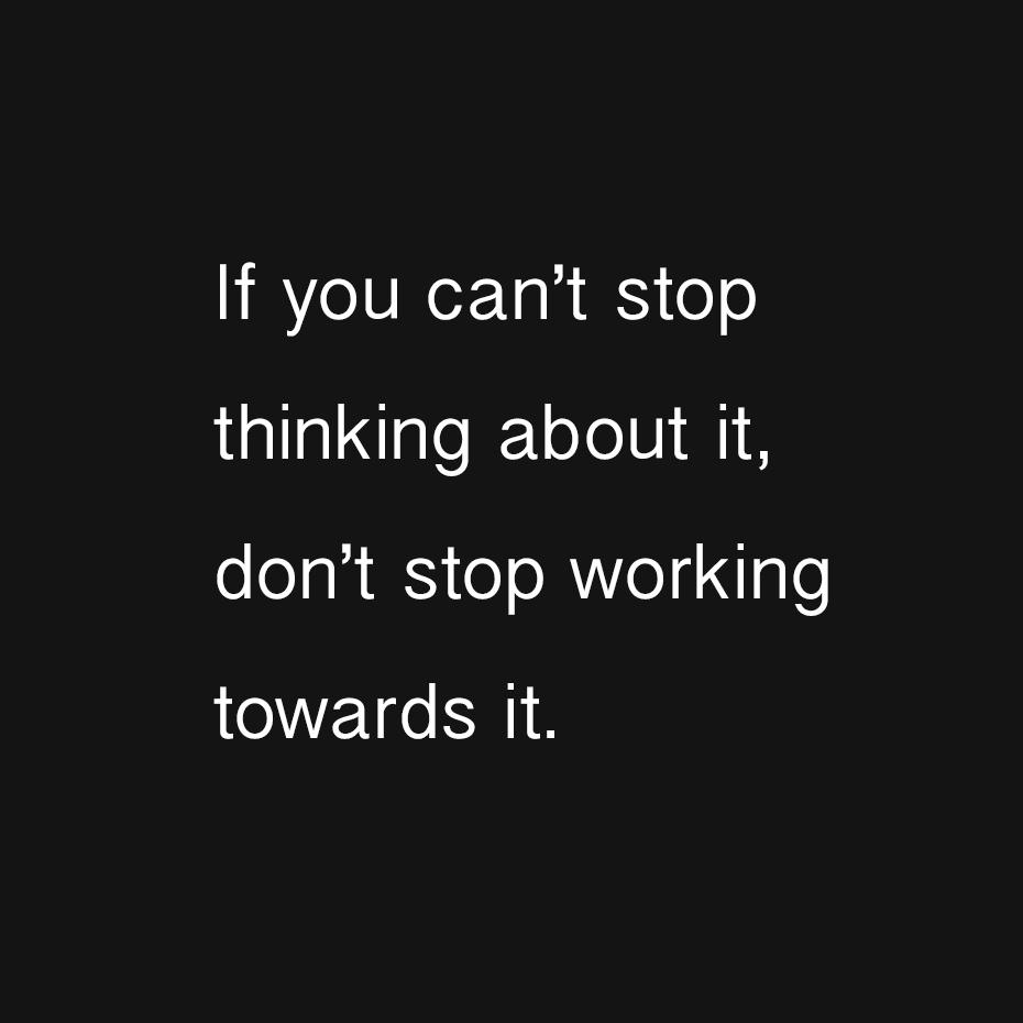 [Image] Put your thoughts into action