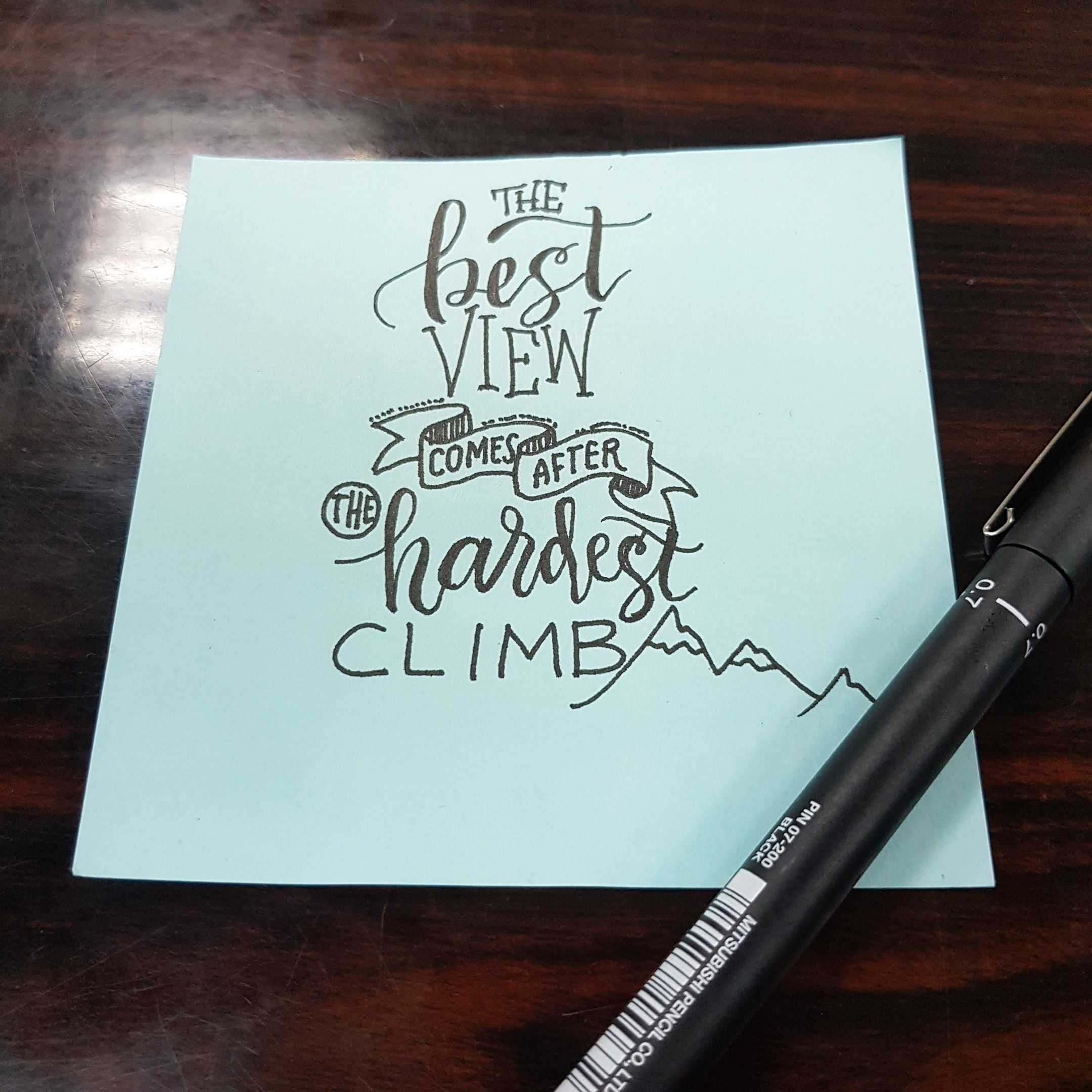 [Image] I've been so stressed at work lately so I wrote this as a reminder that nothing worthwhile is ever easy