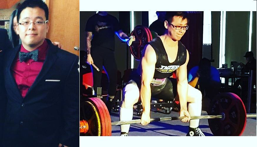 [Image]180+ lb(2014) – > 152lb , First Powerlifting Meet (2016)