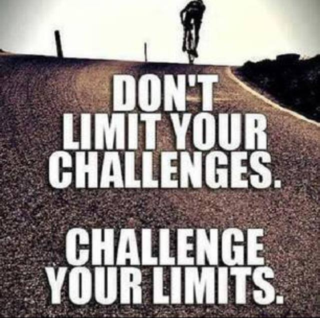 [Image] Challenge your limits.