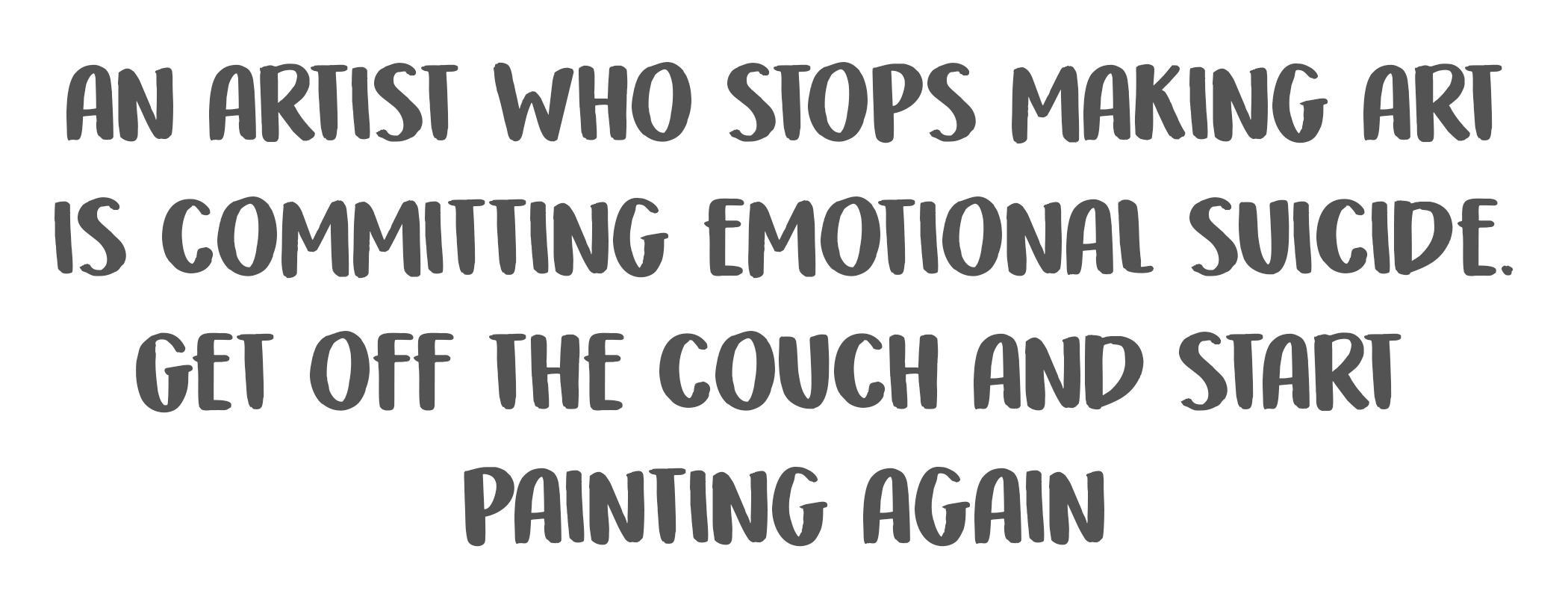 [Image] Emotional suicide