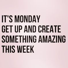 [Image] It's Monday!