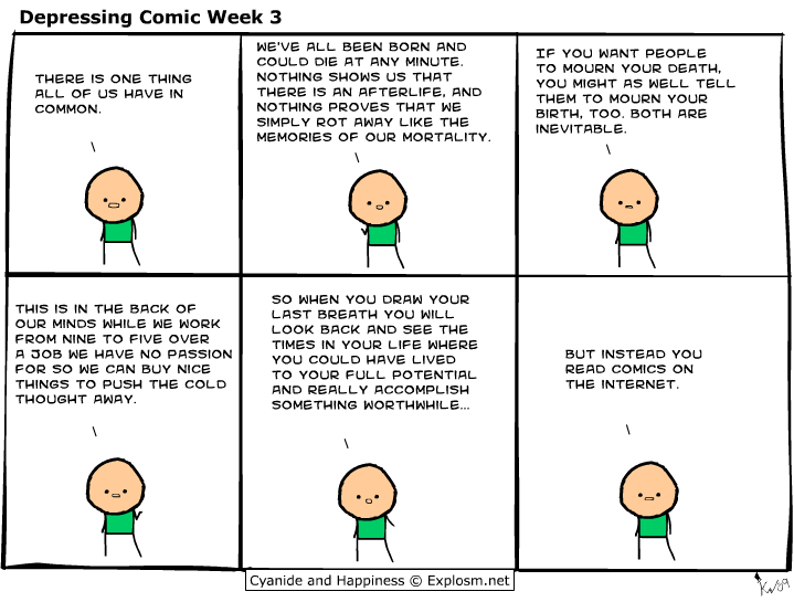 [Image] A wake up call courtesy of Cyanide and Happiness.
