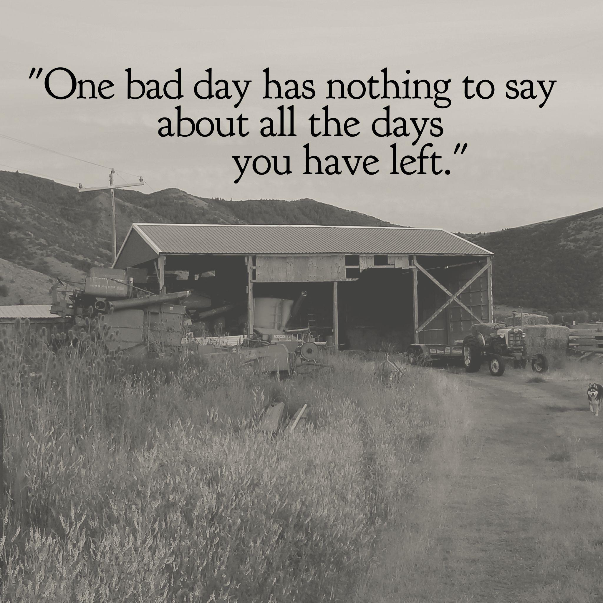 [Image] If I ever feel I'm having a bad day, I tell myself this