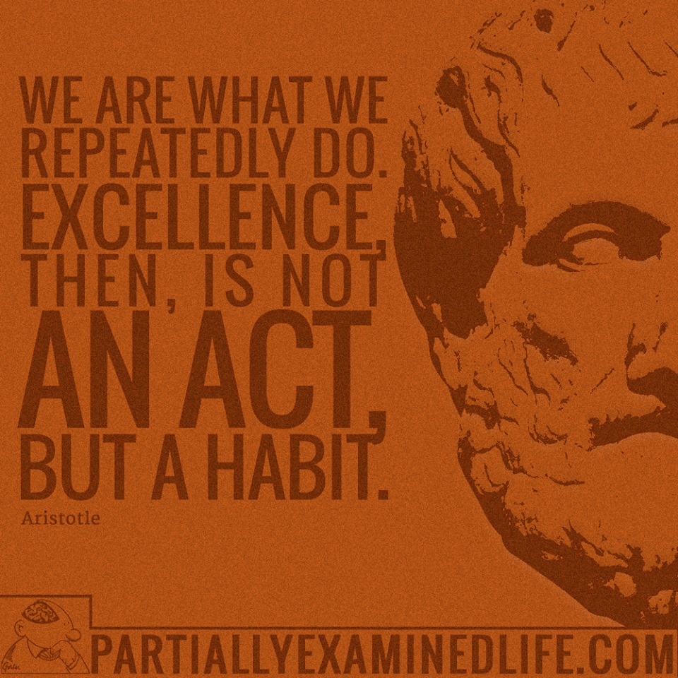 [Image] We are what we repeatedly do. Excellence, then, is not an act, but a habit.