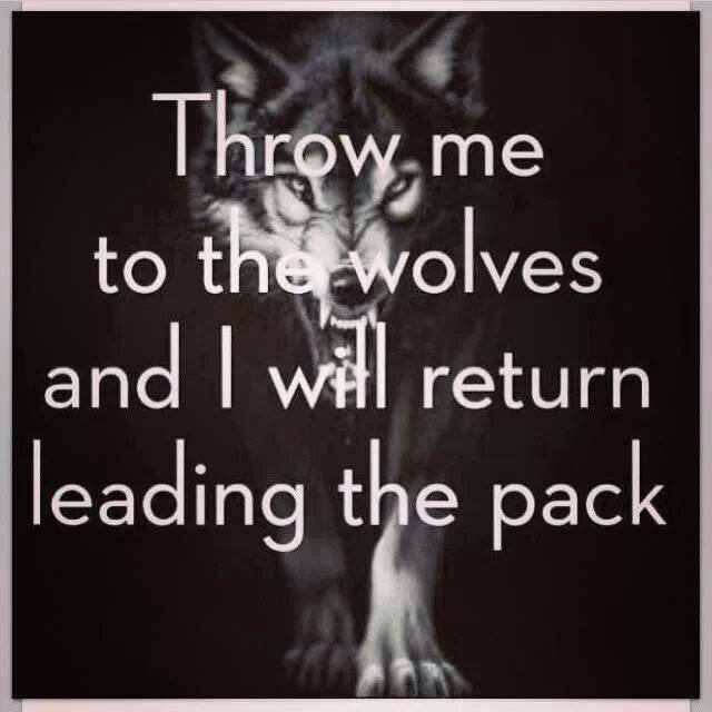 [Image]Throw me to the wolves…