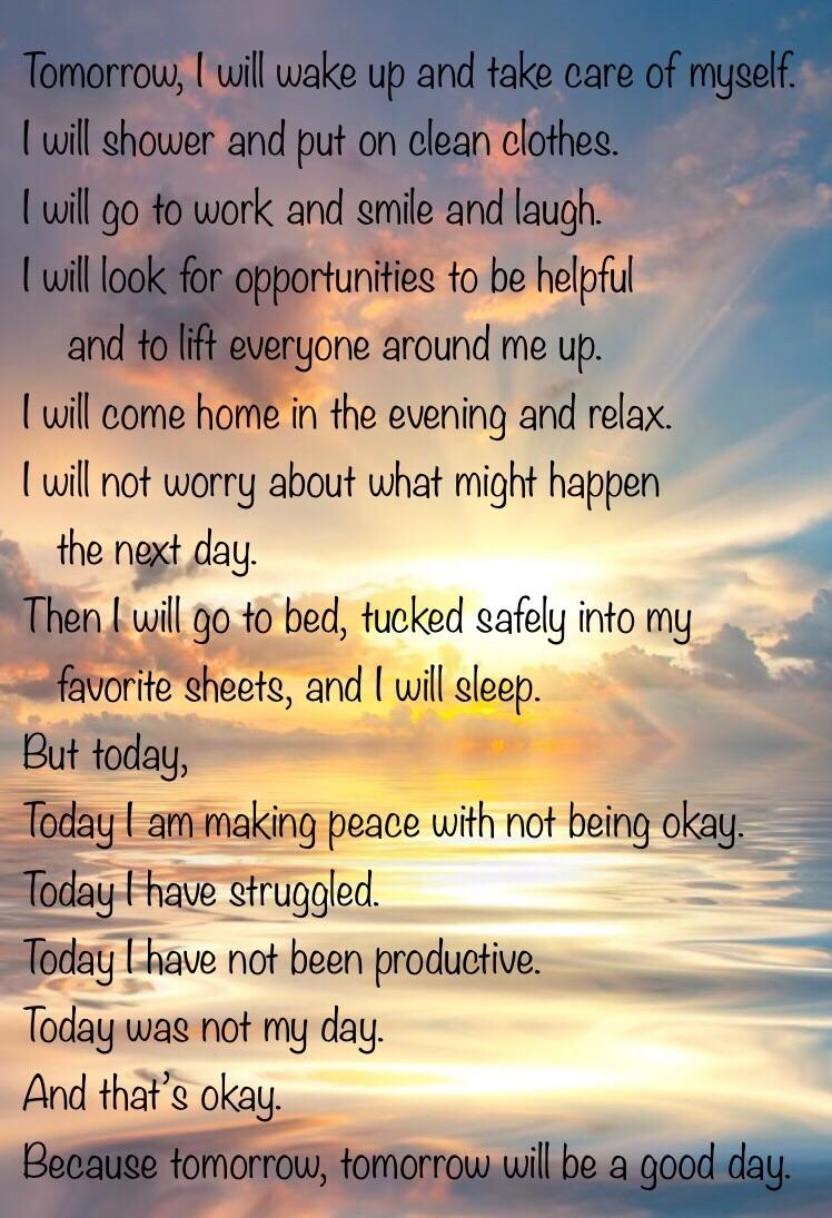 [Image] Tomorrow will be a good day