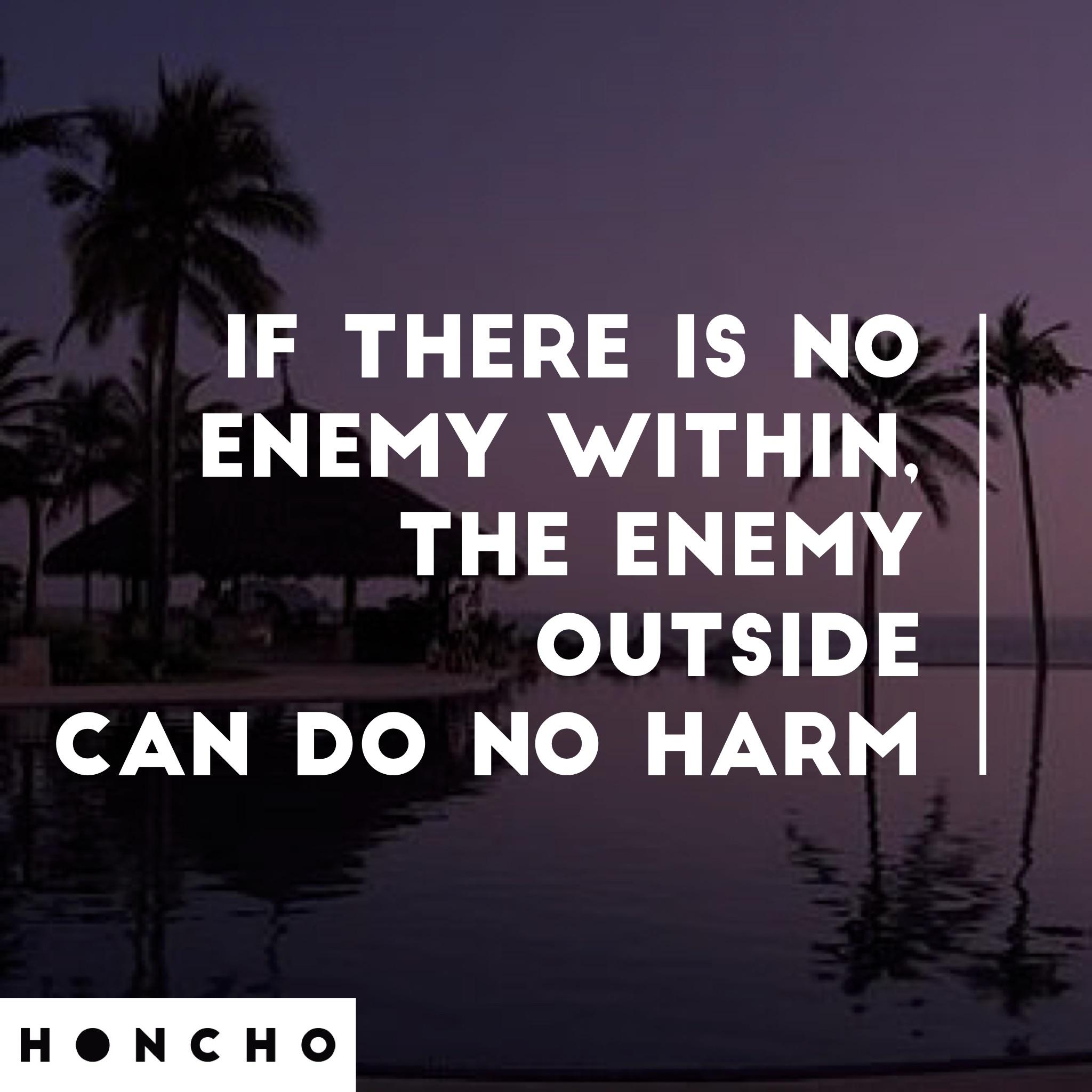 [image] Defeat the enemy within