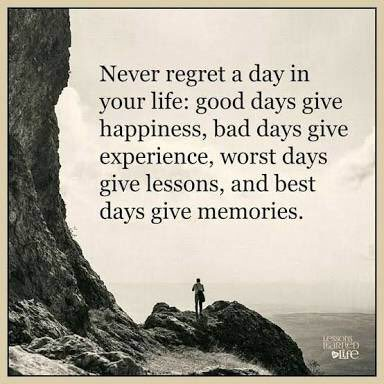 [Image] Never Regret a day in life