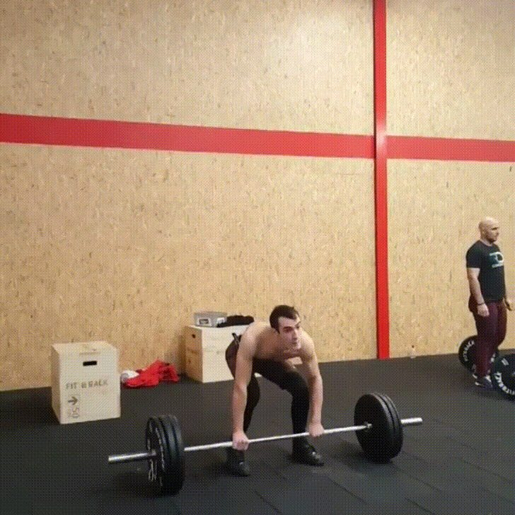 [Image] Adaptive athlete with cerebral palsy performs a 70kg power clean.