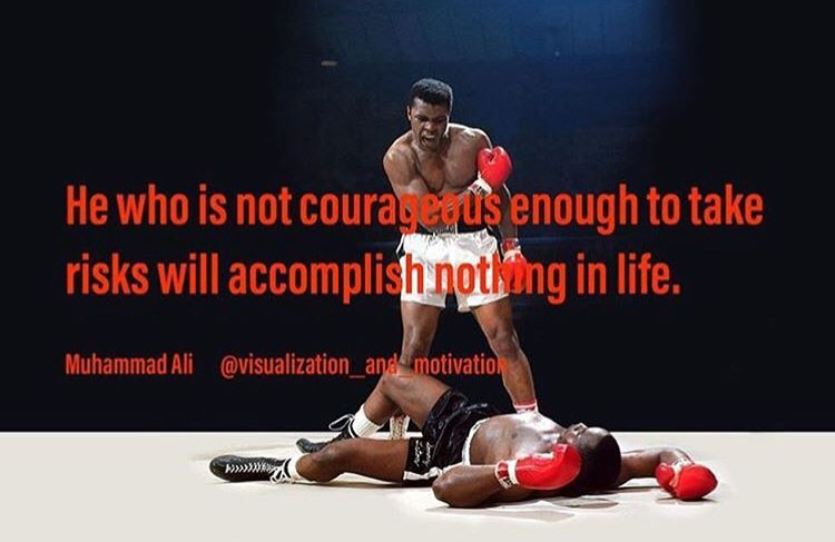 [Image] Ali was right, don't be afraid to the risks!