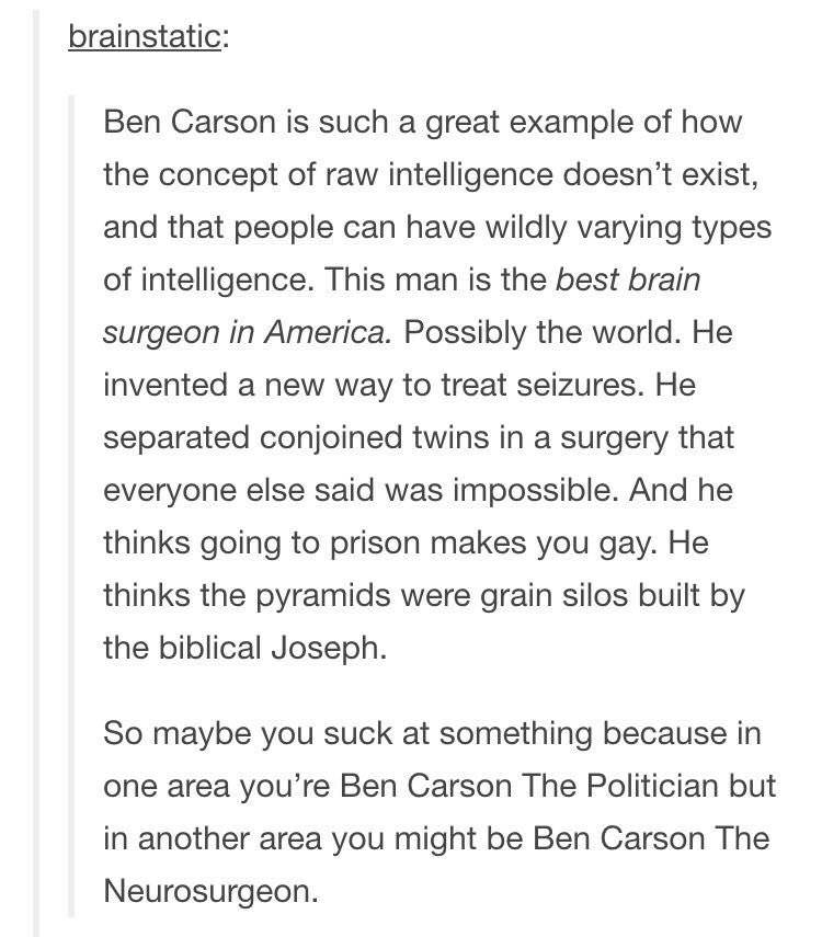 [Image] Be The Best Ben Carson You Can Be