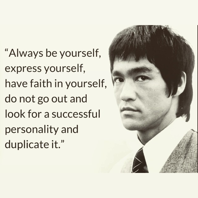 """""""Always be yourself, express yourself, have faith in yourself, do not go out and any look for a successful personality and duplicate it.""""  https://inspirational.ly"""