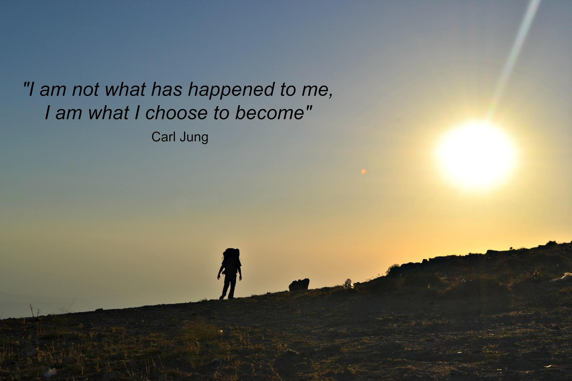 """I am not what has happened to me, I am what I Choose to become"" https://inspirational.ly"