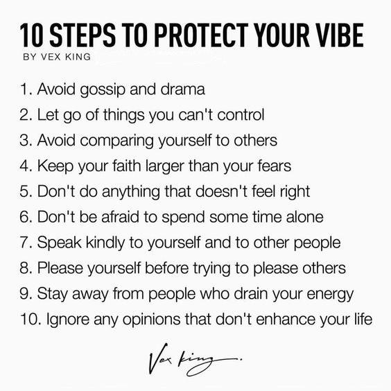 [Image] 10 steps to protect your vibe