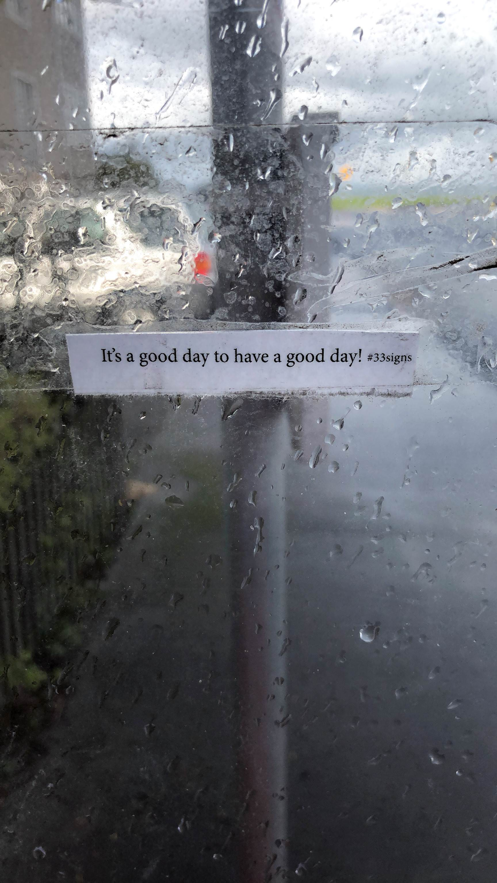 [Image] This message from a bus stop is very true!