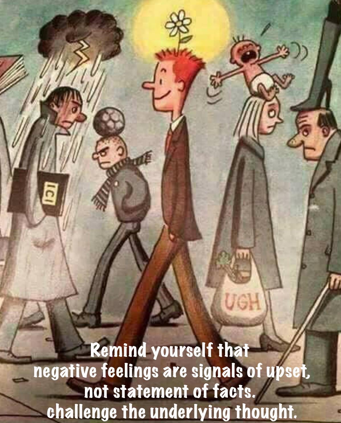 [Image]Remind Yourself That Negative Feelings Are Signals Of Upset, Not Statement Of Facts.