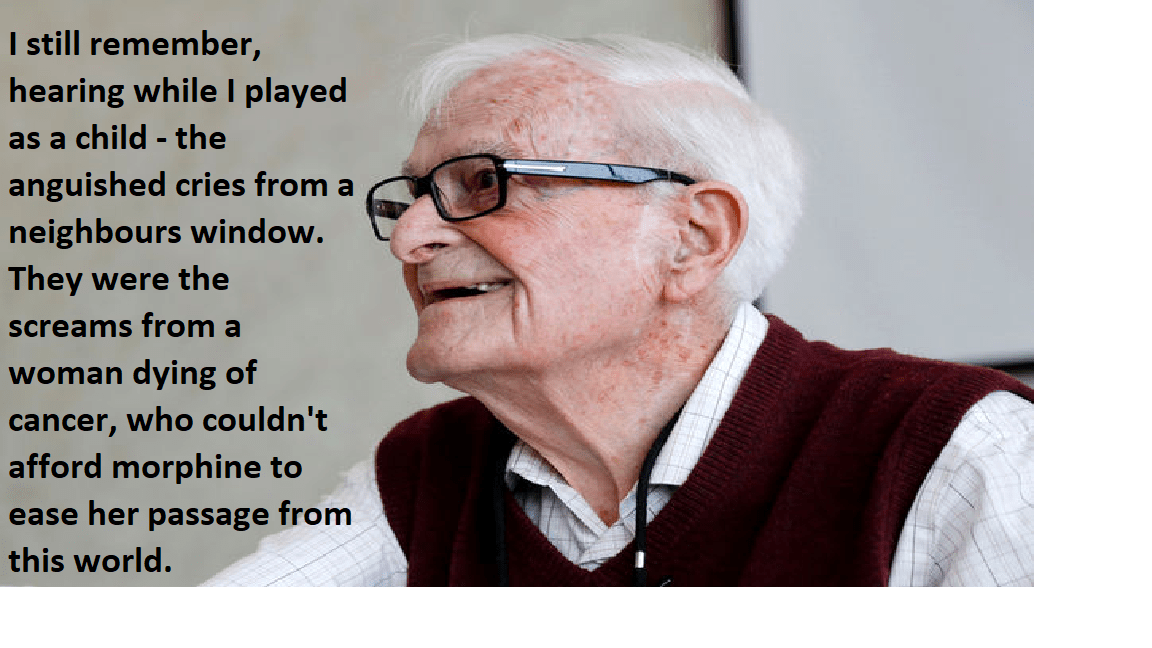 """I still remember, hearing while I played as a child – the anguished cries from a neighbours window"" – British WW2 Veteran, Harry Leslie Smith, describing British Society before Universal Healthcare. [1152 x 648]"