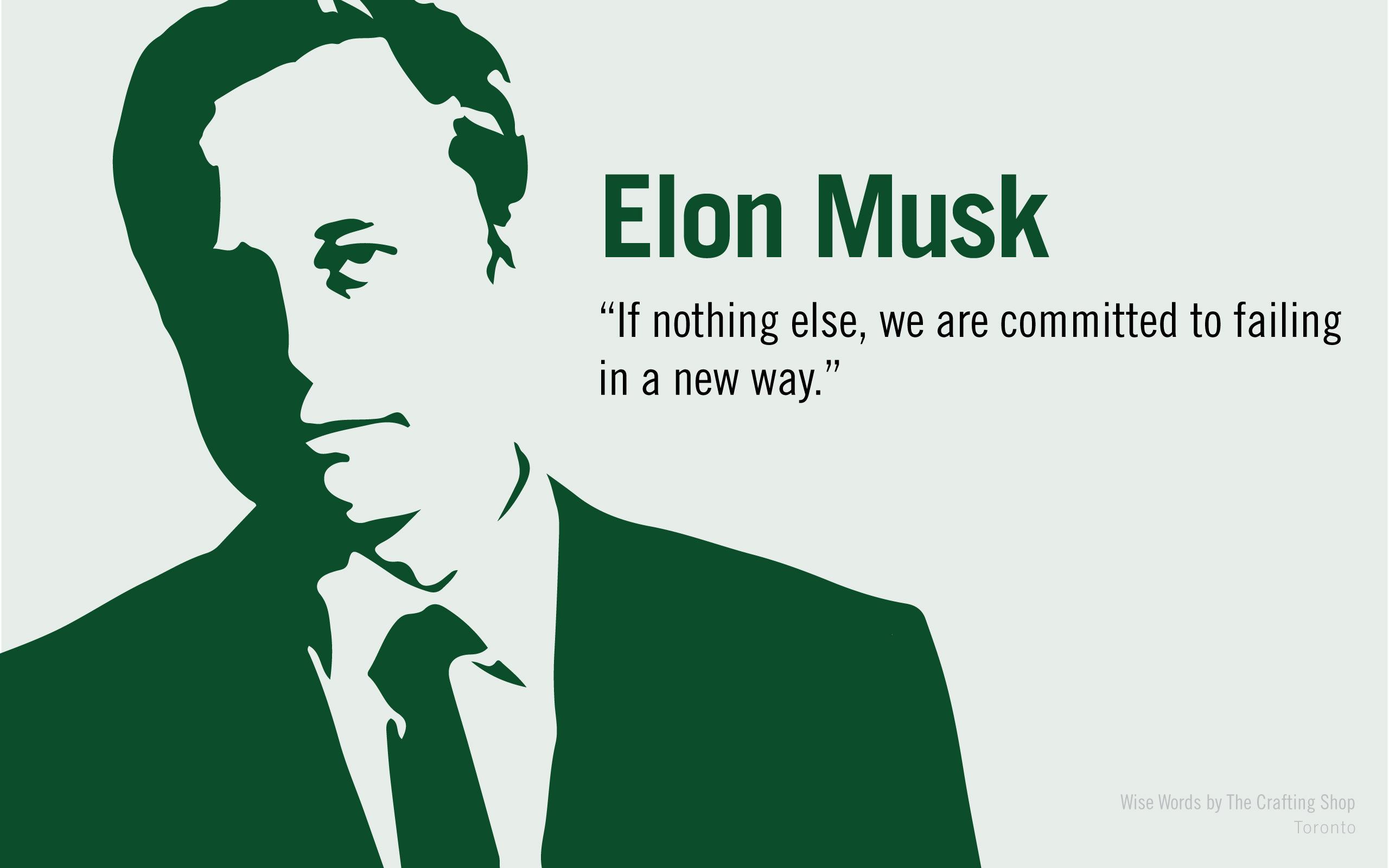 """""""failing…"""" – Elon Musk. [2560×1600]"""