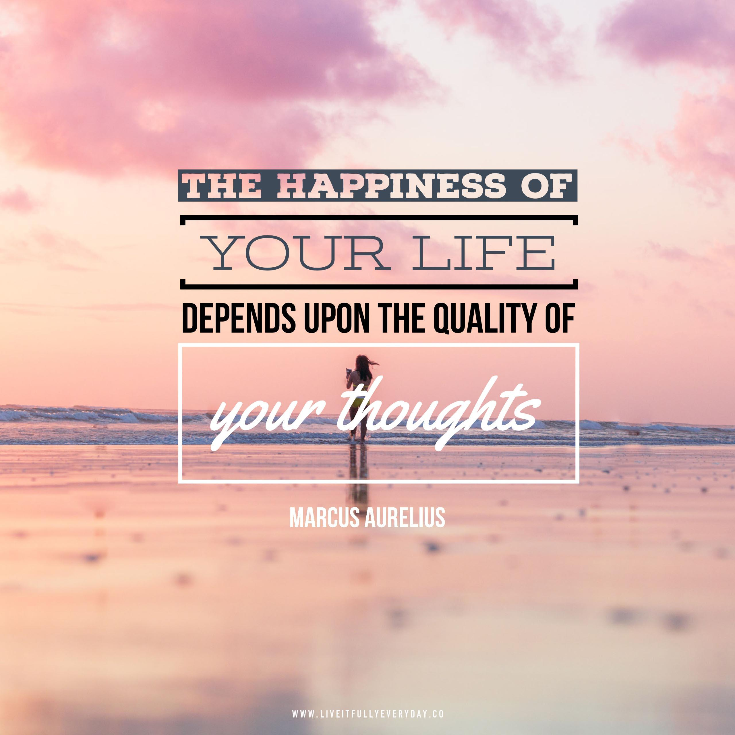 The happiness of your life depends upon the quality of your thoughts: therefore, guard accordingly, and take care that you entertain no notions unsuitable to virtue and reasonable nature. – Marcus Aurelius [2560×2560][OC]