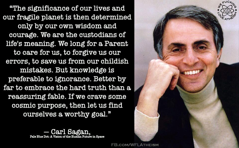 Knowledge is preferable to ignorance – Carl Sagan (960 x 600)