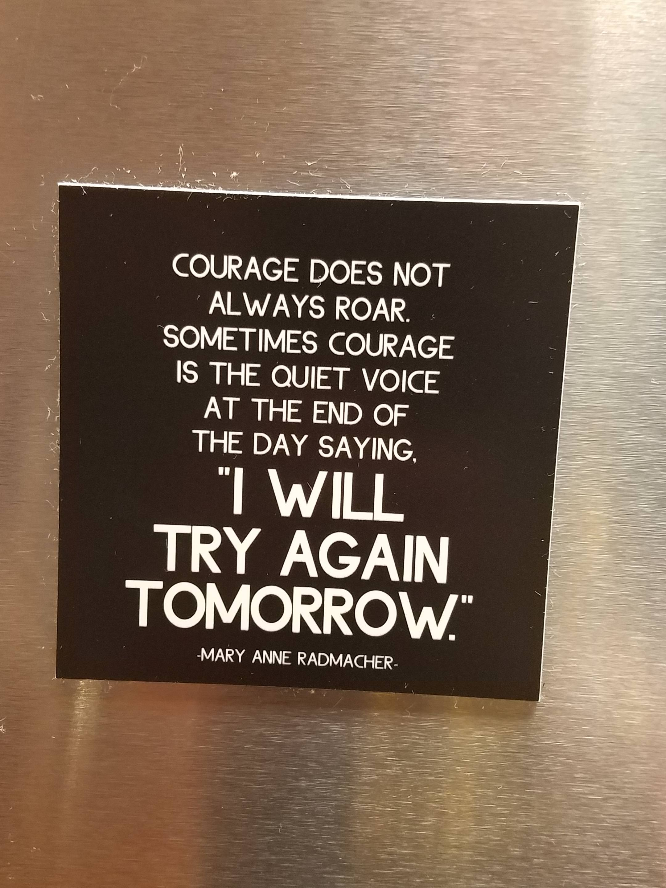 [IMAGE] This was posted at a Ronald McDonald House where my family is staying at