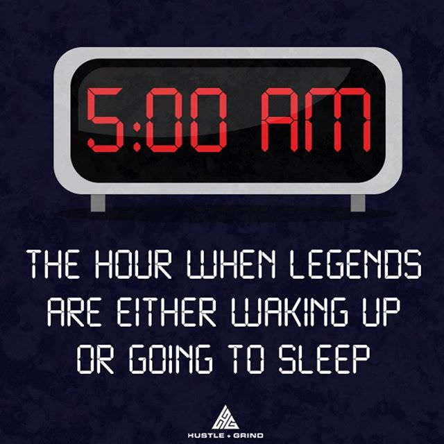 Early to bed and early to rise makes and man healthy, wealthy and wise. [Image]