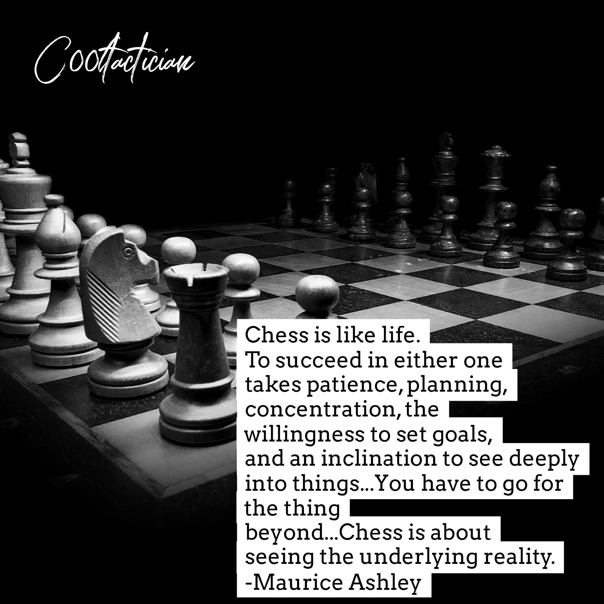 Chess is Like Life Maurice Ashley [2048 x 2048] [OC]